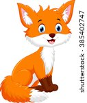 cute fox cartoon | Shutterstock .eps vector #385402747
