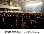 barcelona   apr 24  crowd in a... | Shutterstock . vector #385406617