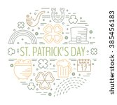st. patricks day colorful line... | Shutterstock .eps vector #385456183