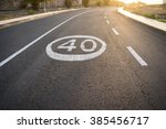 lonely road is coated with... | Shutterstock . vector #385456717