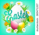 postcard of congratulation on...   Shutterstock .eps vector #385471207
