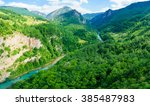 the tara river and canyon  and... | Shutterstock . vector #385487983