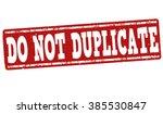 Do Not Duplicate Grunge Rubber...
