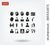 business man icons | Shutterstock .eps vector #385531873