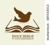 holy bible design  | Shutterstock .eps vector #385533013