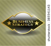 business strategy golden badge   Shutterstock .eps vector #385541143