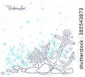 background underwater seabed... | Shutterstock .eps vector #385543873