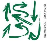 doodle freehand set of grunge... | Shutterstock .eps vector #385544923