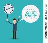 civil rights design  vector... | Shutterstock .eps vector #385561213