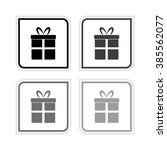 gift    grayscale vector icon