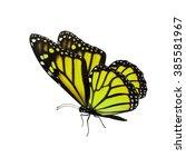 beautiful yellow monarch... | Shutterstock . vector #385581967