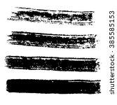 grunge brush stroke . vector... | Shutterstock .eps vector #385585153
