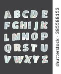 alphabet letters set. letters... | Shutterstock .eps vector #385588153