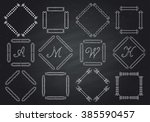 frames for text hand drawn.... | Shutterstock .eps vector #385590457