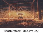 Fire Spinning From Steel Wool