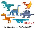 Colorful Prehistoric Dinosaurs...