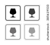 wine glass    grayscale vector...