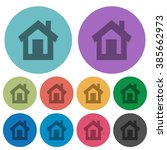 color home flat icon set on...