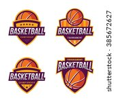 basketball logos  american logo ... | Shutterstock .eps vector #385672627