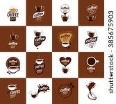 vector logo for coffee | Shutterstock .eps vector #385675903