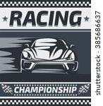 racing championship poster... | Shutterstock .eps vector #385686637
