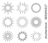 hand drawn sunbursts  vector... | Shutterstock .eps vector #385694317