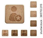 set of carved wooden rank user...