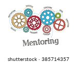 gears and mentoring mechanism | Shutterstock .eps vector #385714357