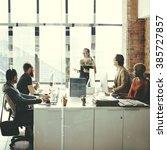 business computer communication ... | Shutterstock . vector #385727857