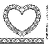 vector henna seamless borders...