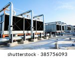 Sets Of Cooling Towers In Data...