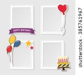 realistic design photo frames... | Shutterstock .eps vector #385761967