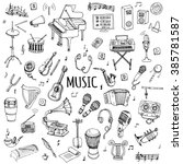 Hand Drawn Doodle Music Set...