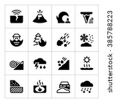 set icons of natural disaster... | Shutterstock .eps vector #385788223
