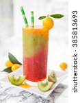 homemade smoothie from a... | Shutterstock . vector #385813693