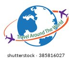 travel around the world icon ... | Shutterstock .eps vector #385816027