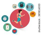 fitness lifestyle  design  | Shutterstock .eps vector #385816033