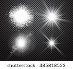 set of glowing light effects... | Shutterstock .eps vector #385818523
