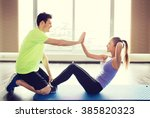 fitness  sport  training ... | Shutterstock . vector #385820323