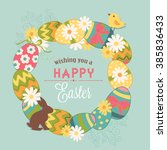 easter wreath | Shutterstock .eps vector #385836433