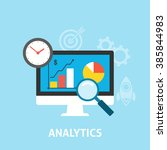 analytics icons flat | Shutterstock . vector #385844983