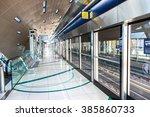 metro station in dubai in a... | Shutterstock . vector #385860733