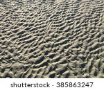 sand ripples on the beach at... | Shutterstock . vector #385863247