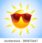 summer sun sunglasses | Shutterstock .eps vector #385872667