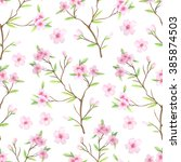 seamless pattern with hand... | Shutterstock . vector #385874503