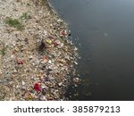 Polluted River Banks