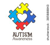 world autism awareness day.... | Shutterstock .eps vector #385888843
