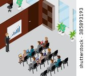 office interior and people 3d... | Shutterstock .eps vector #385893193