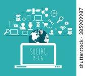social media design  | Shutterstock .eps vector #385909987