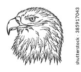 handdrawn eagle's head for your ... | Shutterstock .eps vector #385917043
